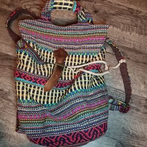 BohoTribal Multi-Colored Small Backpack